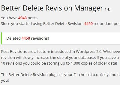 Better Revision plugin