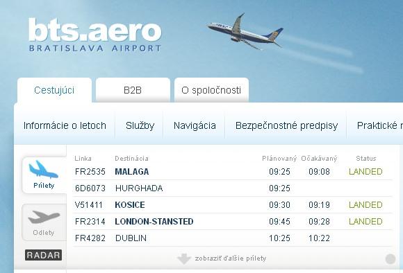 bts.aero - Bratislavské letisko