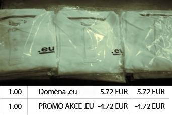 EU doména a tričko