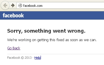 Facebook Failure