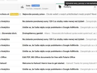 Gmail a jeho zložka pre spam