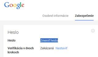Google heslo