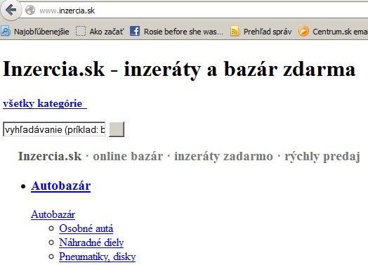 inzercia.sk problém