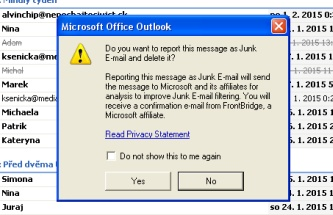 Junk Mail filter outlook