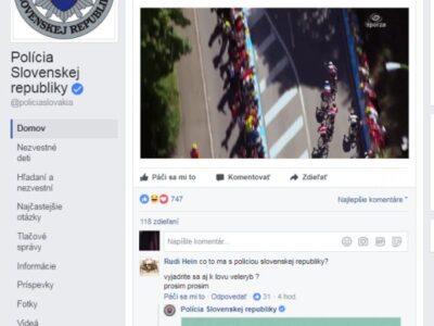 Lakeť sa nestal, stránka Slovenskej Polície