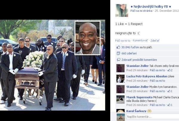 Pohreb Michaela C. Duncana zneužitý na Facebooku