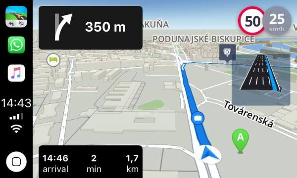 Navigácia Sygic pre Apple CarPlay