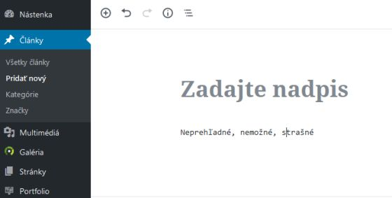 Nový editor na WordPress