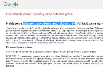 Odstránenie obsahu Google