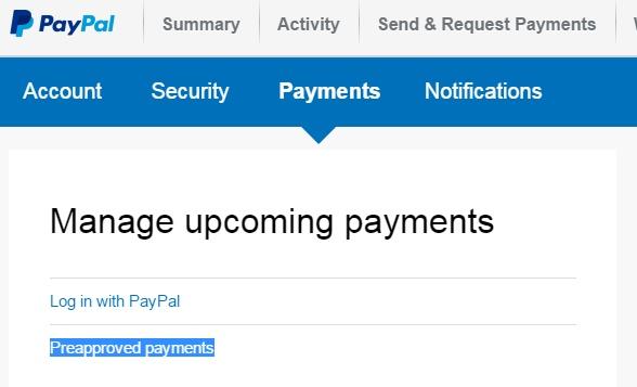 Paypal automatické platby