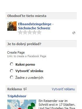 Preklad na facebooku