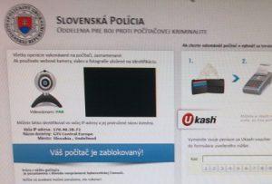 Slovenská polícia falošný vírus