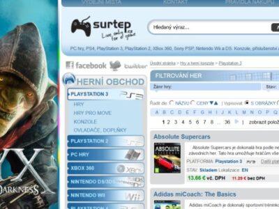 Surtep.sk radšej hľadajte ako surtep.cz