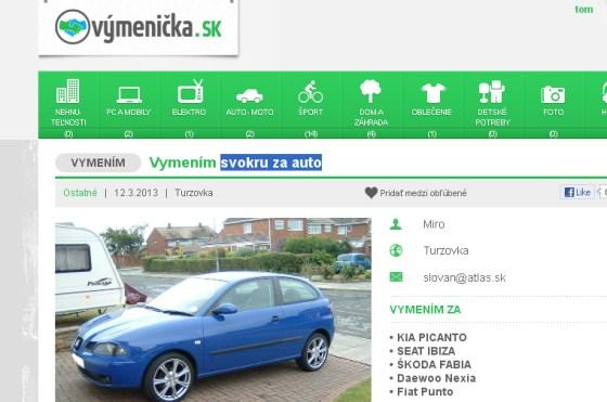 Sokra za auto - vymenicka.sk