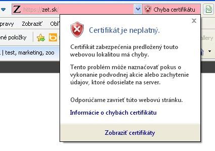 Zetko Certifikát 2